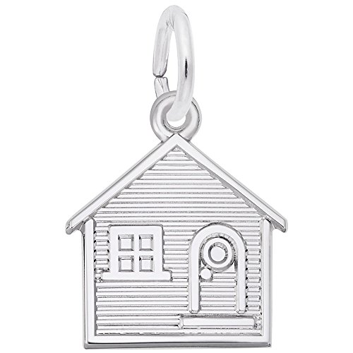 Rembrandt Charms, House, 14k White Gold, Engravable