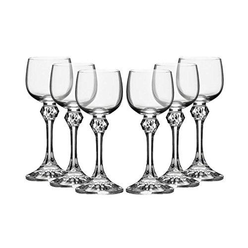 Bohemia Crystal ''Julia'' Liqueur Glasses, 2 Ounce, Set Of 6, Clear