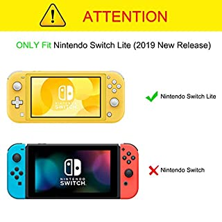 CaseBot Case for Nintendo Switch Lite 2019 - Soft Silicone [Anti-Slip] [Shock Proof] Protective Cover with Ergonomic Grip Design for Switch Lite Console 2019, Living Coral