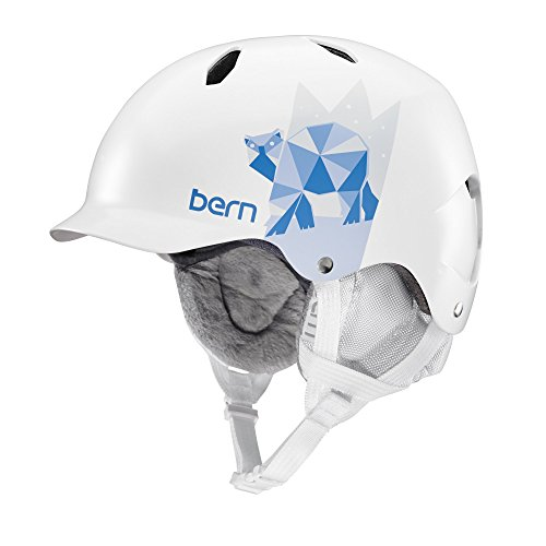Bern Bandita Casque, Fille, Bandita, Satin Satin White Polar Bear
