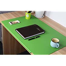 LOHOME Desk Pads Artificial Leather Laptop Mat with Fixation Lip, Perfect Desk Mate for Office and Home, Rectangular...