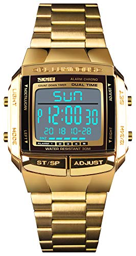 Mens Luxury Digital Watches Multifunctional Stopwatch Countdown