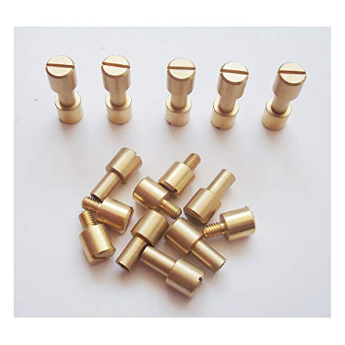 Rivet Brass Handle - 10 sets/lot Corby Bolts Fasteners,EDC knives maker screws,Tactics lock Rivet,DIY knife handle fastener Revits (brass)