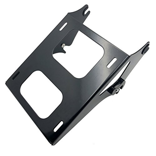 (XKMT Black Detachable 2 Two Up Tour Pak Pack Mounting Luggage Rack Compatible with Harley Touring Road King Street Glide Road Glide 2014-2016)