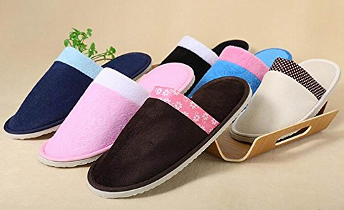 Dark Slippers Closed 10 Toe Disposable Blue Slippers Soft Pairs XZwXqr