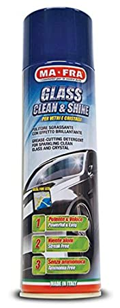 Pulitore vetri auto effetto brillante 500 ml MA-FRA GLASS & SHINE SPRAY MA FRA