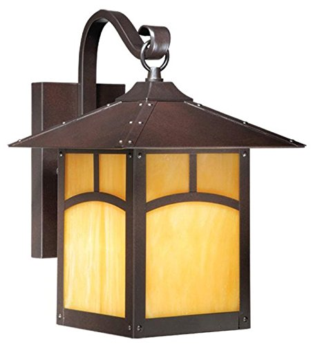 Vaxcel One Light Outdoor Wall Light TL-OWD090EB One Light Outdoor Wall Light (Craftsman Style Patio)