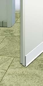Schellenberg 66218 - Burlete con cepillo para puertas (100 cm), transparente