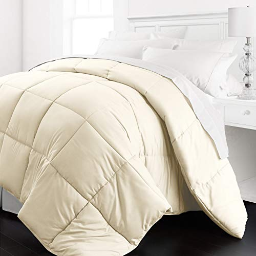 Beckham Hotel Collection 1200 Series - Lightweight - Luxury Goose Down Alternative Comforter - Hotel Quality Comforter and Hypoallergenic -Twin/Twin XL - Ivory