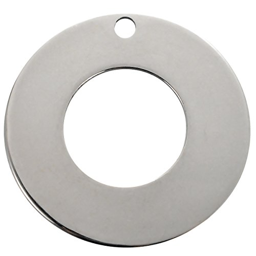 20pcs Silver Tone Stainless Steel Round Circle Charm Pendants Blank Stamping Tags 20mm( 6/8
