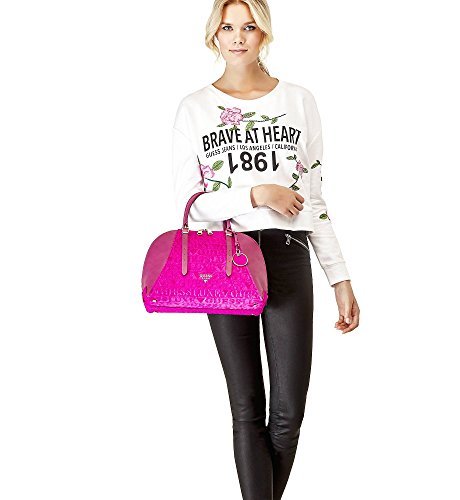 BORSE LADY LUXE LEATHER SATCHEL GUESS
