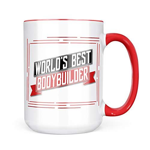 Neonblond Custom Coffee Mug Worlds Best Bodybuilder 15oz Personalized Name