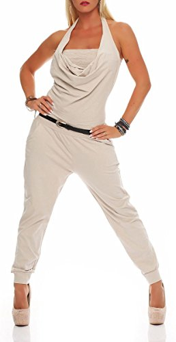 malito Jumpsuit Body Catsuit Playsuit Casual 6616 Mujer Talla Única beige