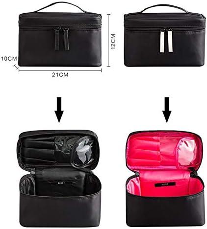 YouNITE トラベルメイクアップバッグ専門ジッパー化粧ケースメイクアップバース主催ストレージポーチトイレタリーウォッシュビューティキットバースボックス (Color : Red)