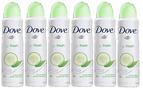 Dove Anti-Perspirant Deodorant Spray, Cucumber & Green Tea, Dry 48 Hour Protection 150 Ml (Pack of ()