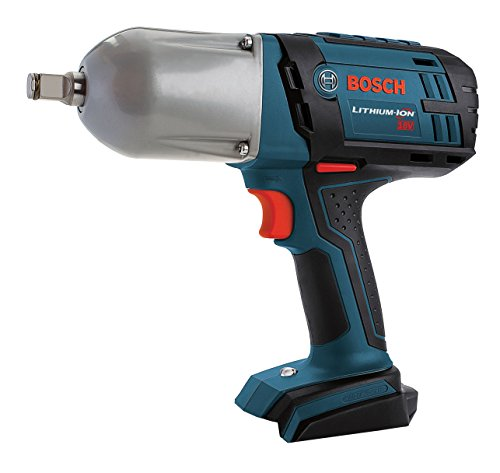 Bosch Bare-Tool IWHT180B 18-Volt Lithium-Ion 1/2-Inch Square Drive High Torque Impact Wrench with Friction (Bosch Nuts)