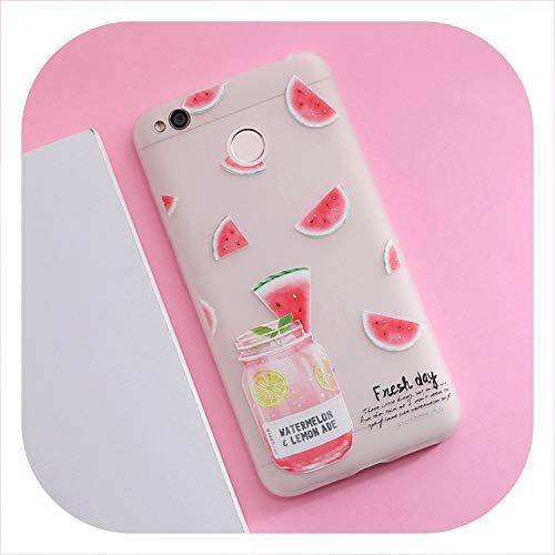 3D Relief Scrub Silicone Phone 4X Ultra-Thin Geometric Flower Plants Pattern TPU Phone Cases,HMK202-GT14XiGPZ,for Redmi 4X ()