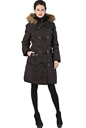 BGSD Women's Quilted Down Toggle Coat - Black S