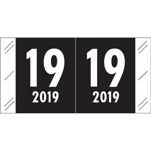 Year Label, Laminated, Col'R'Tab Compatible, 1-1/2'' x 3/4'', Roll of 1,000, 2019 by Colortrieve