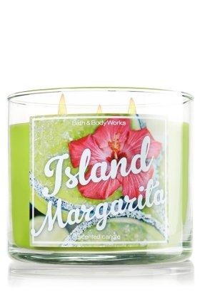 Bath & Body Works Candle 3 Wick 14.5 Ounce Island Margarita Margarita Glass Candle