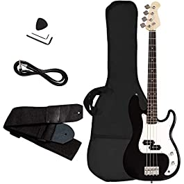 Electric Bass Guitar, Safeplus Starters Acoustic Guitar Full Size 4 String Package with Guitar Bag, Strap, Guitar pick…