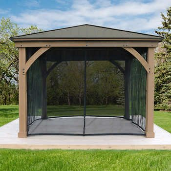 Gazebo Mosquito Mesh Kit for 12x14 Wood Gazebo