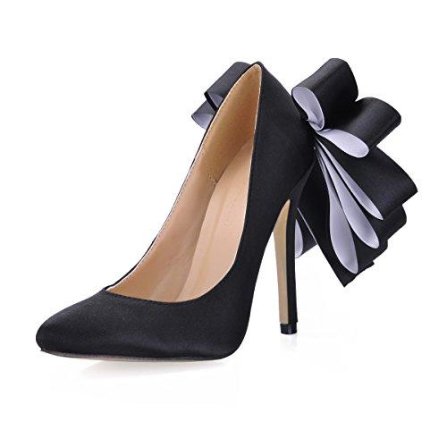 Nouvelle Fleurs et Douce Lumière Black Talon Fait LYNXL Rose Chaussure Femmes de Port D'hiver Nouvelles Grandes Unique D'automne de Chaussures Chaussures EYqFfFa