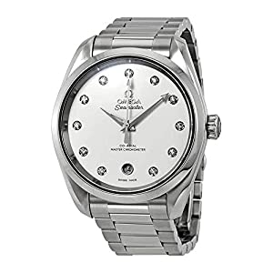 Omega Seamaster Aqua Terra 220.10.38.20.52.001 - Reloj automático para mujer (esfera plateada, diamante) 1