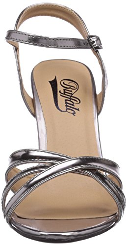 Buffalo 312703 METALLIC PU - Sandalias de vestir de material sintético para mujer Plata - Silber (PEWTER 01)