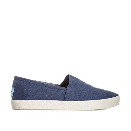 TOMS Men's Avalon Slip-On Navy Canvas Sneaker 8.5 D (M)