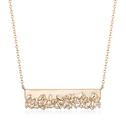 Ross-Simons .59 ct. t.w. Baguette Diamond Bar Necklace in 14kt Yellow Gold by Ross-Simons (Image #4)