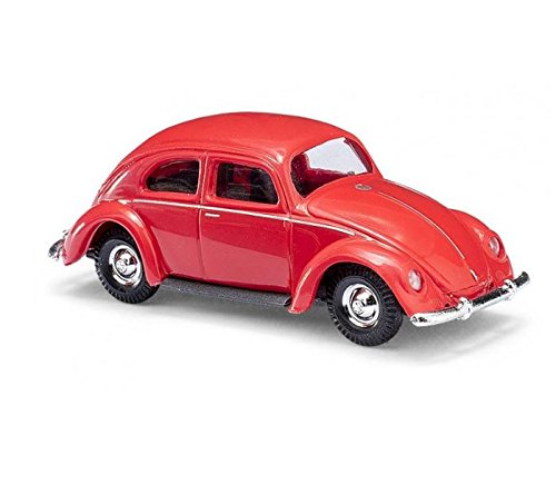 Busch 42710 VW Bug Red HO Scale Model Vehicle 1:87