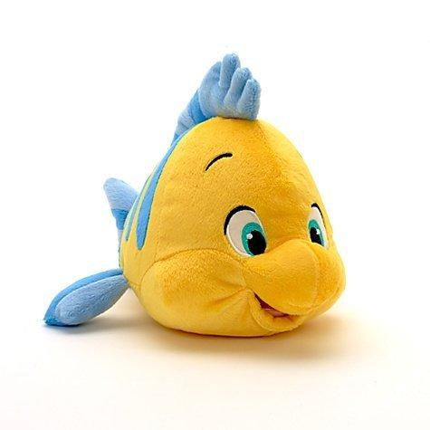 Disney The Little Mermaid: Flounder Plush (Little Mermaid Flounder Plush)