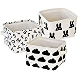 Storage Bin Cotton Fabric Storage Baskets Foldable Organizers...