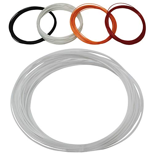 Z Best Tennis Racket String Reel Polymer 17 Guage (17g) - Durable, Spin, Power, Feel, and Control (White, 40 Foot) ()