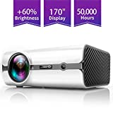 ViviMage C460 Mini Movie Projector, 2500 Lux 1080p Supported, Portable Home Cinema Indoor/Outdoor Use Compatible iPhone/PC/DVD/Fire TV Stick/Video Games
