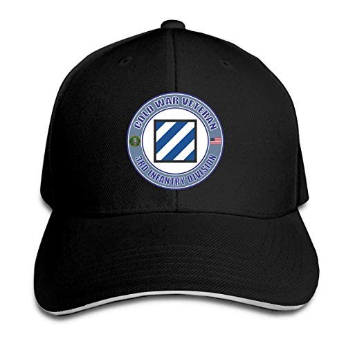 U.S. Army Cold War 3rd Infantry Division Veteran Black Adjustable Trucker Cap Baseball Cap Dad Hat Casquette Hat
