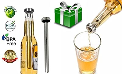 Best Beer Chiller Sticks. The Stainless Steel Beer Chiller Stick is Designed to Keep Your Beer Cold to the Very Last Drop. Beer Coolers are Great Gifts for Fathers Day, St Patricks Day or Everyday!