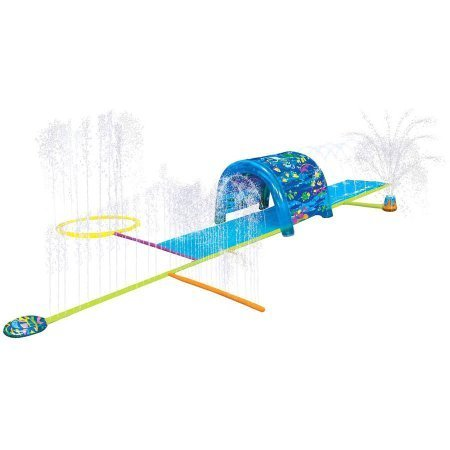 Inflatable Sprinkler Park Kids This Big Portable Kiddie Blow Up Above Ground Long Waterslide Is Great For Toddlers & Children, Boys & Girls, Aqua Splash To Have Outdoor Water Fun With All Family. - Kid Water Slides