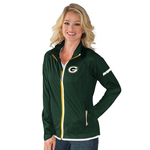 NFL Green Bay Packers Women's Batter Light Weight Full Zip Jacket, XX-Large, Green