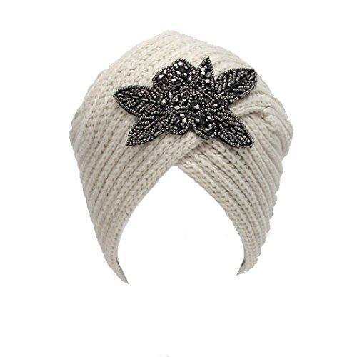 [Usstore Women's Lady Winter Warm Knit Crochet Ethnic wind Hat Braided Turban Headdress Beautiful Cap] (Ethnic Hats)
