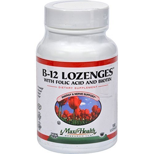 180 Lozenges - MAXI HEALTH KOSHER VITAMINS B-12 LOZENGES, 180 LOZ by Maxi-Health