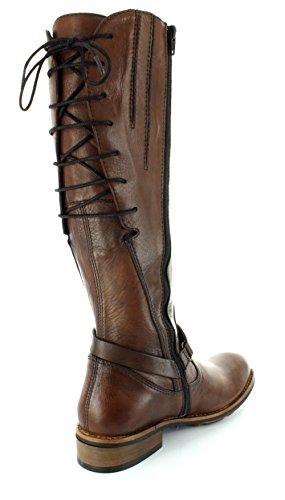 Wolky Comfort Boots Belmore Cognac In Pelle Di Velluto