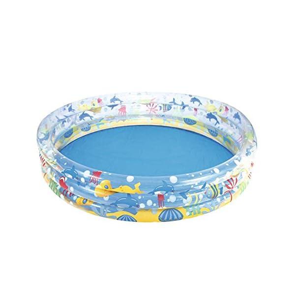 foyar Kiddie Piscina Gonfiabile Piscina 3 Anelli Spessa per Bambini Bambini Outdoor Giardino superiore Giardino Adulto… 1 spesavip