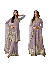 STELLACOUTURE Ethnic wear Eid Special Indian/Pakistani Palazzo with Long and Short Anarkali Salwar Kameez 67031
