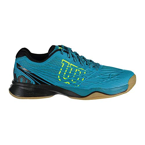 (Wilson Men's KAOS Indoor Enamel Blue/Black/Safety Yellow 8 D US)