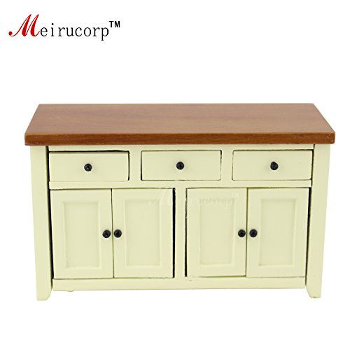 (Meirucorp 1/12 Scale Dollhouse Miniature Furniture Handcrafted Wooden Lovely Small Cabinet)