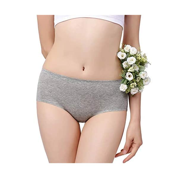 Women Invisible Seamless Mid Rise Panties No Show Laser Cut Hipster Brief Underwear