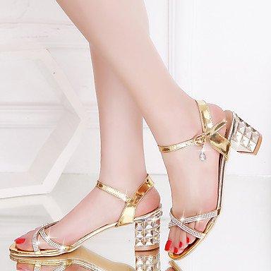 Talons 2 À Femme Argent Chaussures 5 Eté Or Talon Automne Gros Printemps 5 4 Cm Polyuréthane Gold ggx Lvyuan yqS4Iq