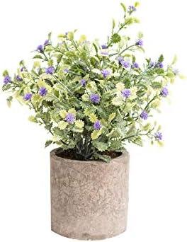 Plantas Artificiales Plásticas Flor Maceta Decorativas para La Decoración Casera y de Oficina